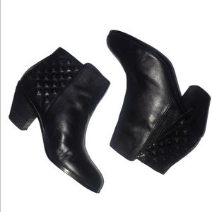 Sam Edelman Black Lucille Leather Ankle Booties 8